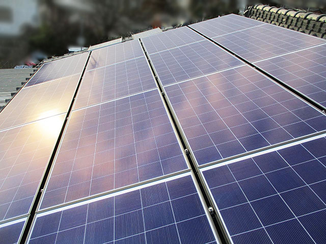 田川郡のS様邸 太陽電池モジュール設置済み