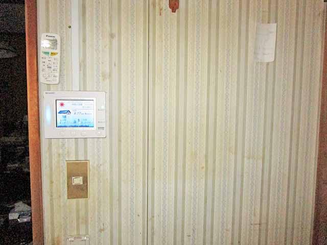 飯塚市 村瀬様邸 オムロン蓄電池のリモートコントローラ取付前