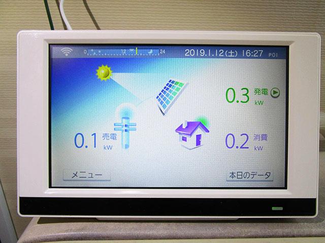 田川郡のS様邸 太陽光用カラーモニター設置