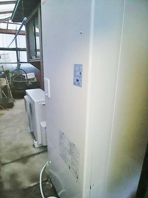 嘉穂郡 S様邸 オール電化工事 エコキュート設置完了