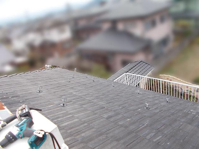 朝倉郡 T様邸 太陽光架台アンカー取り付け完了