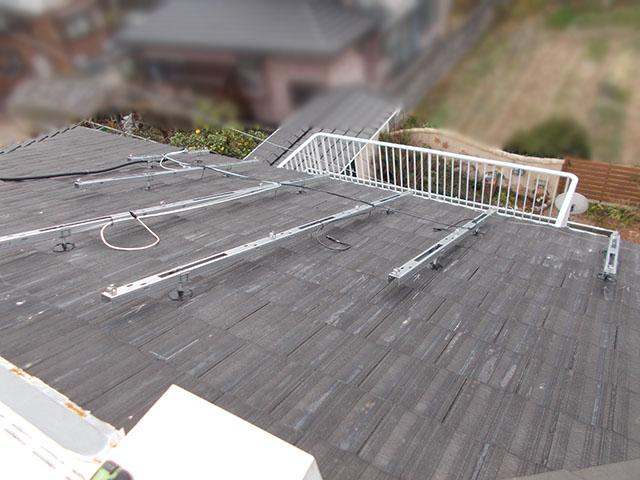 朝倉郡 T様邸 太陽光架台設置