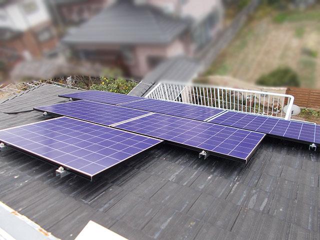 朝倉郡 T様邸 太陽電池モジュール設置済み