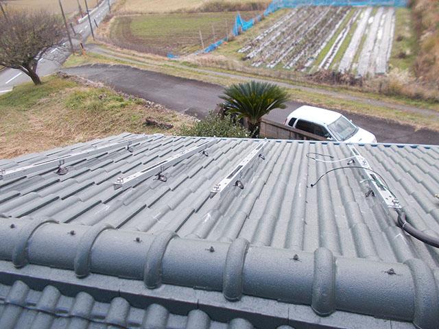 宮若市 U様邸 太陽電池モジュール用架台フレーム