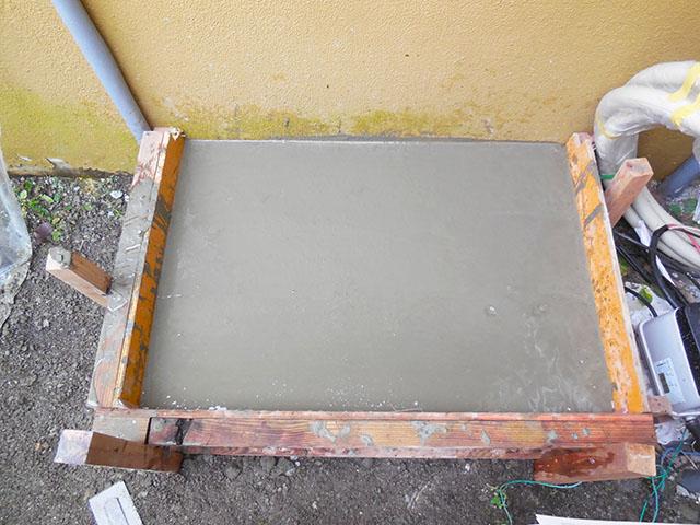 豊後大野市 赤嶺様邸 蓄電池スマートスターL 基礎コンクリート流し込み