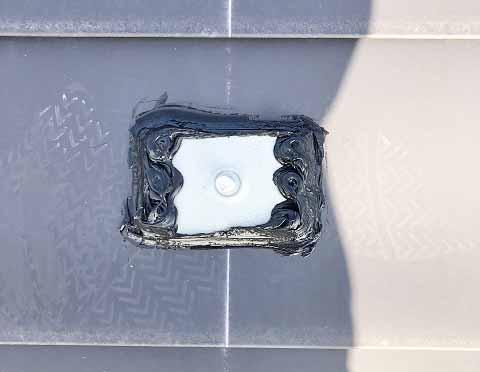 宮崎市 太陽光発電 O様邸 アンカー金具 防水処理済み