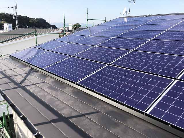 宮崎市 太陽光発電 O様邸 太陽電池モジュール設置済み