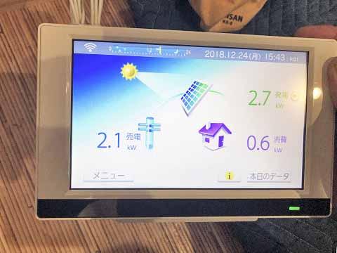 宮崎市 太陽光発電 O様邸 カラーモニター