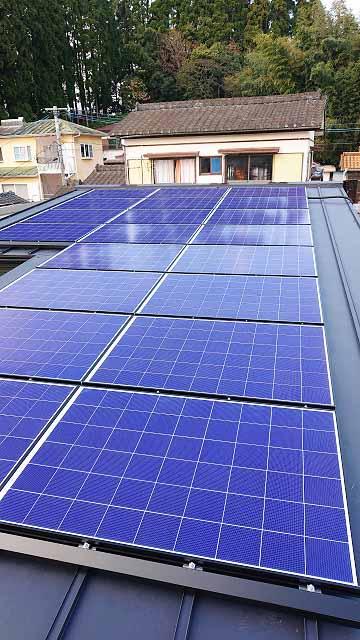 東諸県郡 H様邸 太陽電池モジュール設置写真
