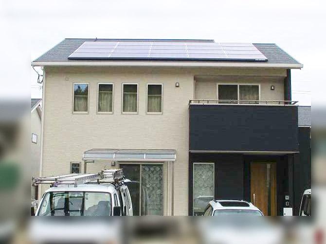 春日市 中尾様邸 長州産業の太陽光発電設置