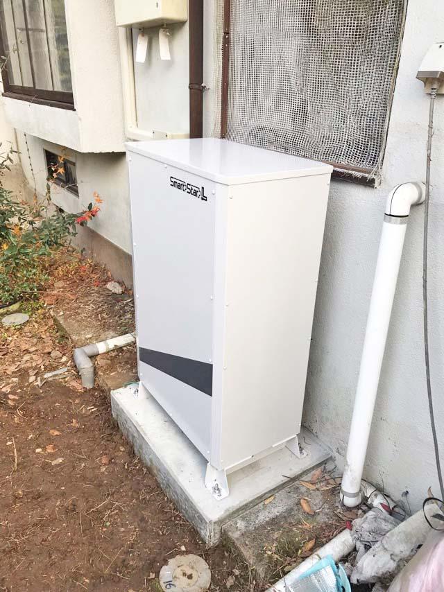 豊後大野市のA様邸でスマートスターLの蓄電池本体の設置済み