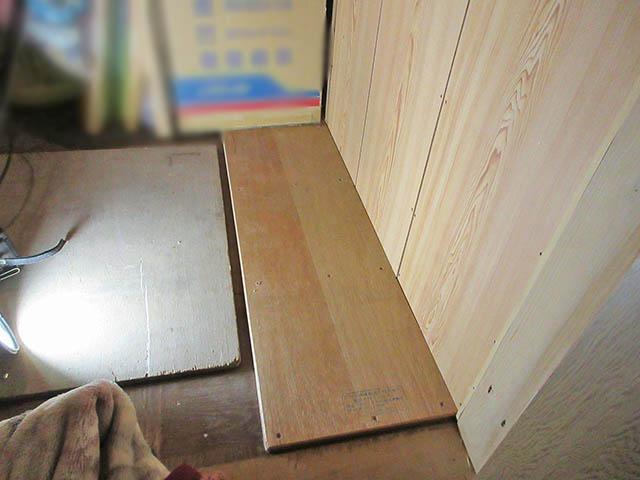 嘉麻市 大谷様邸 オムロン6.5kWhフレキシブル蓄電池ユニット本体の設置場所の床補強