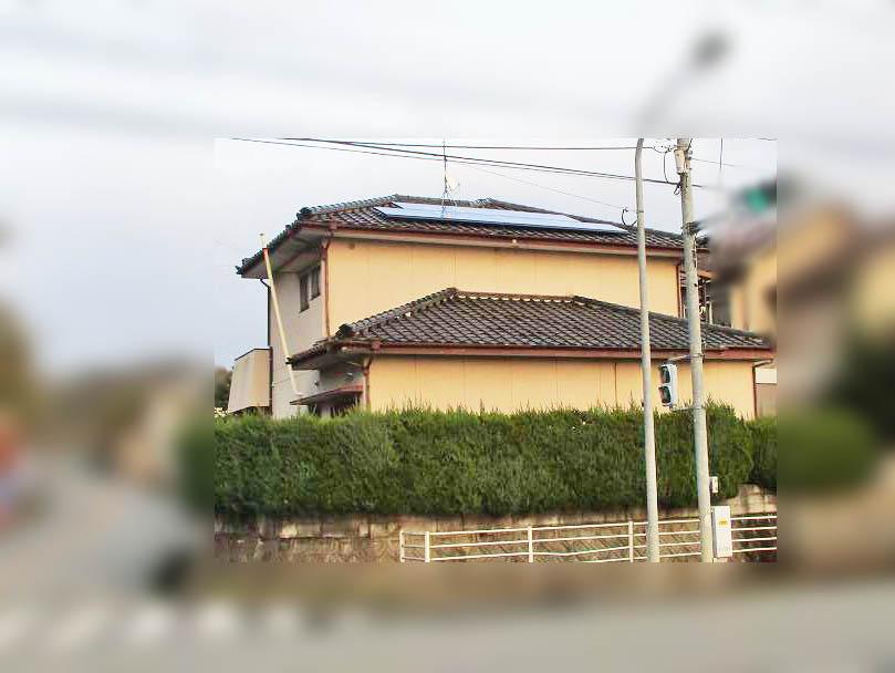 嘉麻市の甲斐様邸にて太陽光発電システムと日立エコキュートの設置工事しました。