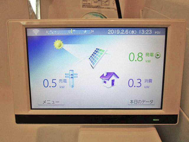 春日市 中尾様邸 長州産業の太陽光発電 カラーモニター設置