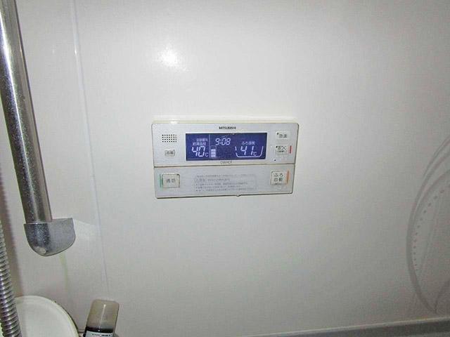 嘉麻市の甲斐様邸で日立のエコキュート設置前の旧電気温水器のふろリモコン