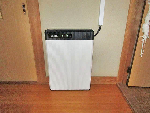 鞍手郡のM様邸にてオムロンの6.5kWh蓄電池ユニット設置完了