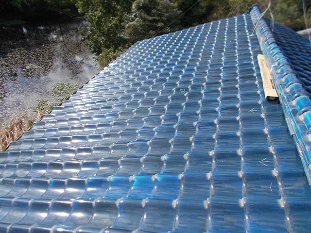 中津市 K様邸 太陽電池モジュール設置前 和瓦屋根