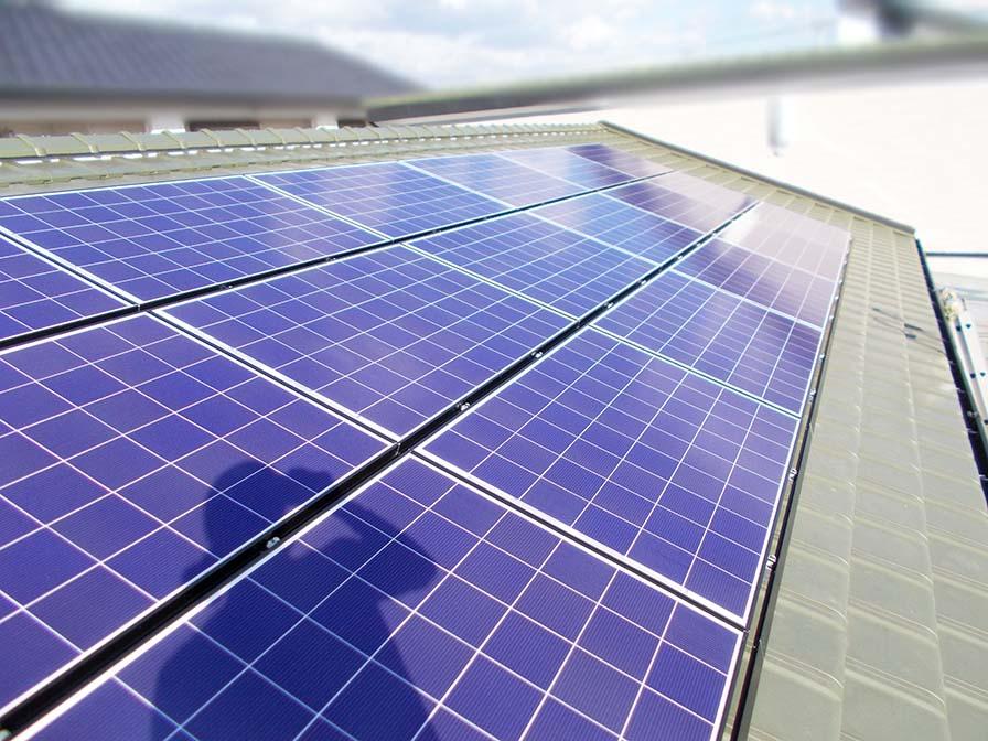 朝倉郡 手島様邸 太陽光発電始めました