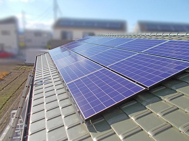 朝倉郡 手島様邸 太陽光発電パネル設置完了