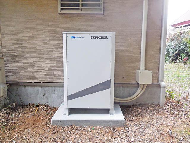 中津市 佐々木様邸 スマートスターL 蓄電池本体設置完了