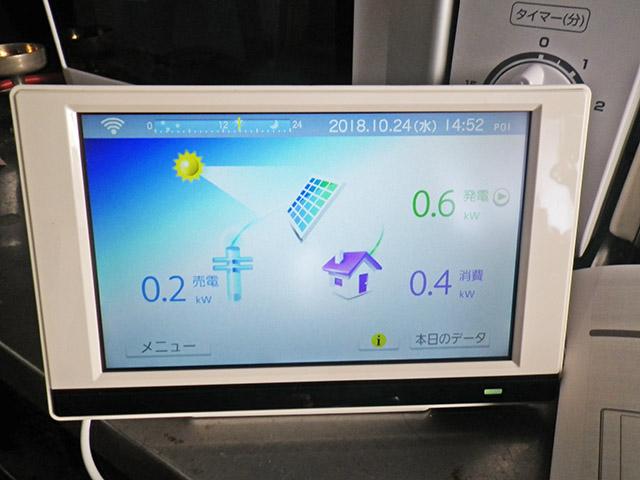中津市 K様邸 太陽光発電のカラーモニター