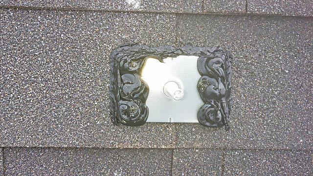 日南市 I様邸 太陽電池モジュール用アンカー金具のコーキング