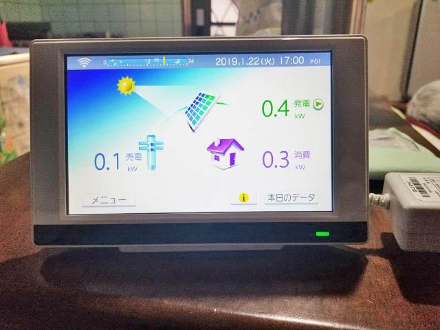 宮崎市 山下様邸 太陽光発電用カラーモニター