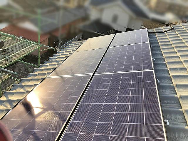 宮崎市 山下様邸 太陽電池モジュール設置