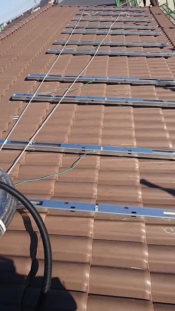 宮崎市 渡邊様邸 太陽電池パネル用架台フレーム