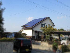 田川郡のH様邸に太陽光発電つきました!
