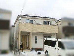 方形屋根に太陽光発電システムつけました