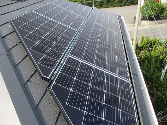 北九州市のM様邸にて長州産業の太陽光発電システム設置工事をしました。パネル写真です。