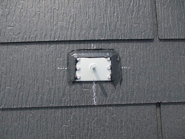 北九州市のM様邸にて長州産業の太陽光発電システム設置工事をしました。支持部の写真です。
