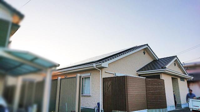 日南市のO様邸、太陽光発電システムの工事しました!
