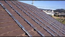 日南市のO様邸、太陽光発電システムの工事です