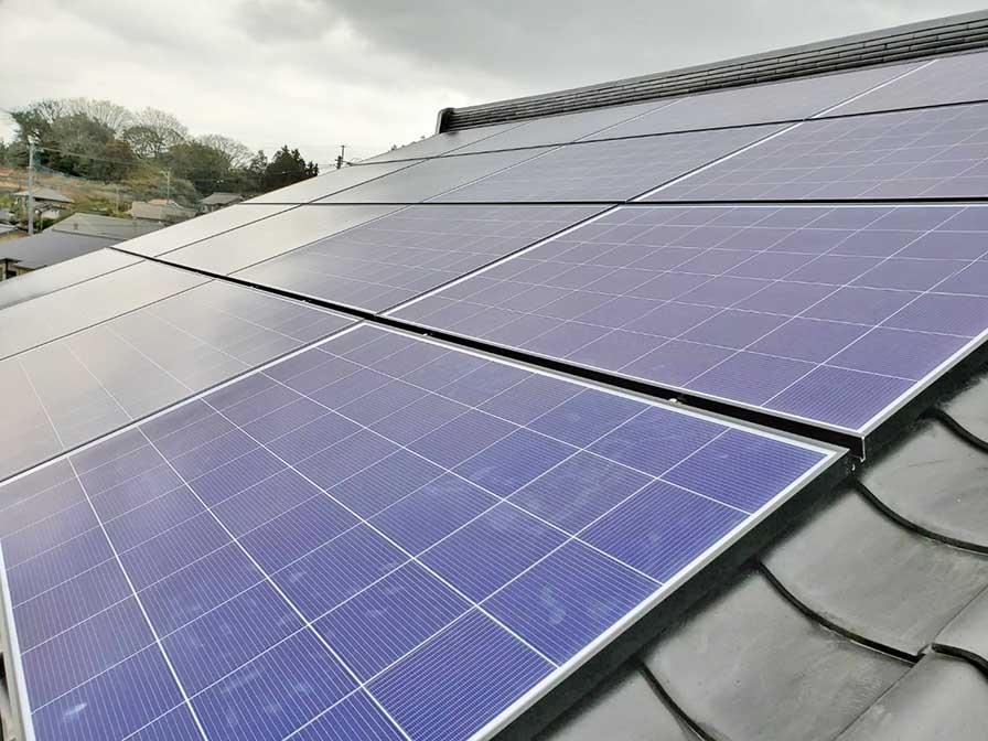 田川郡のN様邸に太陽光発電設置しました