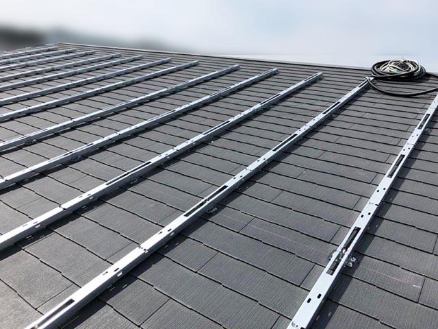 糟屋郡のI様邸に長州産業の太陽光発電つきました