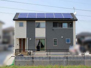 嘉穂郡のM様邸にて長州産業の太陽光発電システム設置工事しました。
