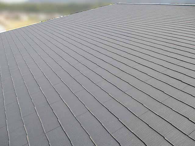 糟屋郡宇美町のI様邸にて太陽光発電の工事しました。施工前の屋根です。
