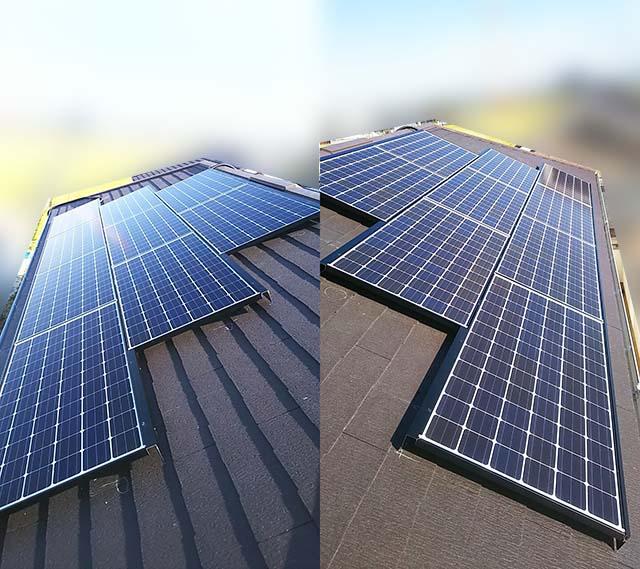 名古屋市港区のT様邸にてパナソニックの太陽光発電工事しました。