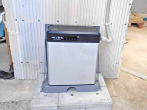 飯塚市の高良様邸にて長州産業のフレキシブル蓄電システムの設置工事しました。