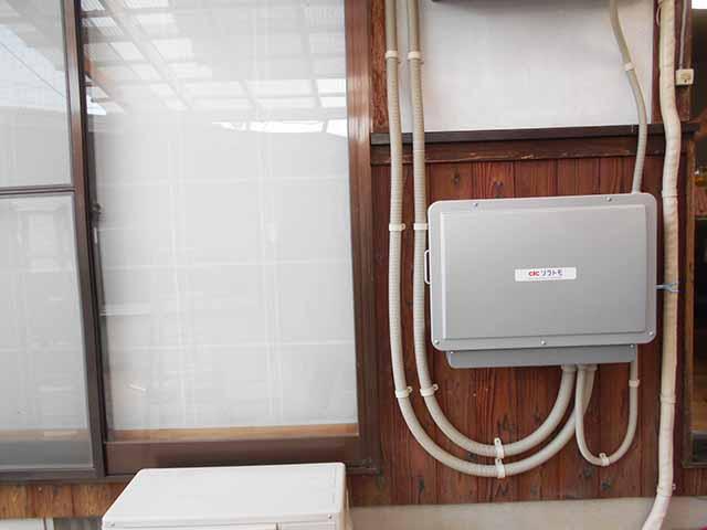飯塚市の高良様邸にて長州産業のフレキシブル蓄電システムの設置工事しました。パワコン設置写真