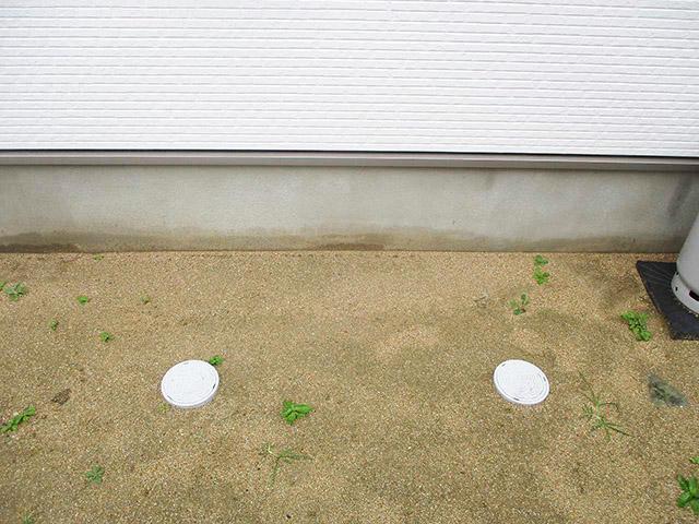 福岡県宗像市のA様邸にてオール電化工事をさせていただきました。エコキュートの基礎工事です。