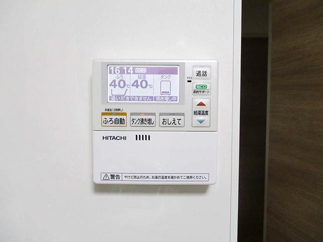 福岡県宗像市のA様邸にてオール電化工事をさせていただきました。エコキュートの台所リモコンです。