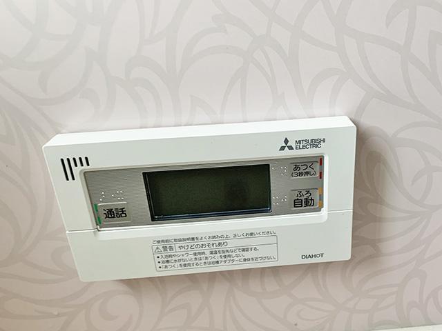 久留米市のS様邸にて三菱のエコキュート設置工事しました。リモコン設置写真。