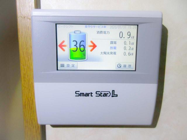 福岡県中間市のY様邸にて、蓄電システムの設置工事をしました≪エネルギーモニター≫