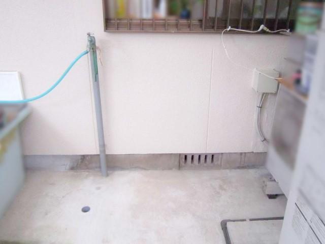 福岡県中間市のY様邸にて、蓄電システムの設置工事をしました≪蓄電池設置前≫