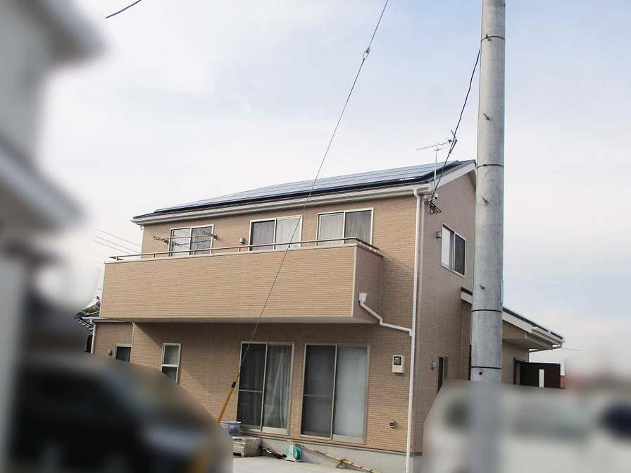 福岡県久留米市のT様邸にて長州産業の太陽光発電システムの設置工事をしました。