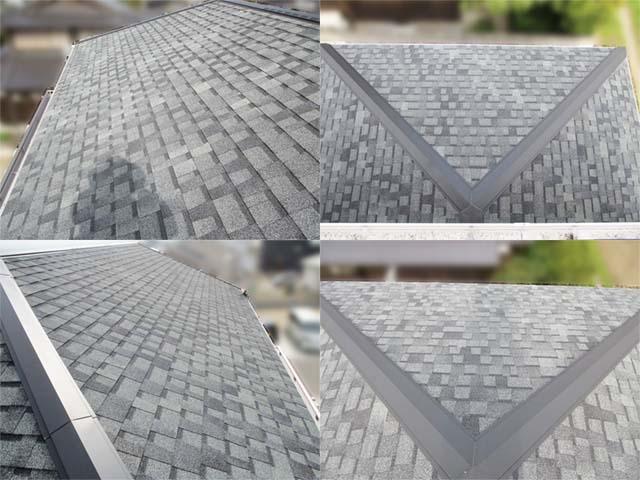 福岡県久留米市のT様邸にて長州産業の太陽光発電システムの設置工事をしました。施工前のあすふぁるシングル屋根です。