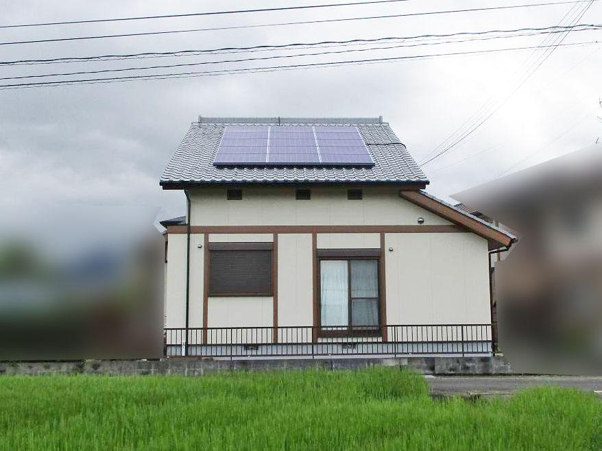 佐賀県唐津市のT様邸にて長州産業の太陽光発電システム設置工事しました。
